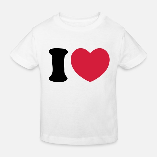 Serce Baby Clothes - Heart Love - Kids' Organic T-Shirt white