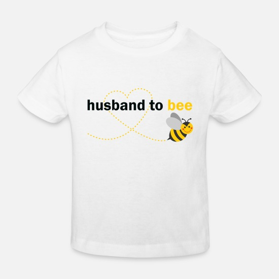 Grand Parents Baby Clothes - Husband To Bee - Kids' Organic T-Shirt white