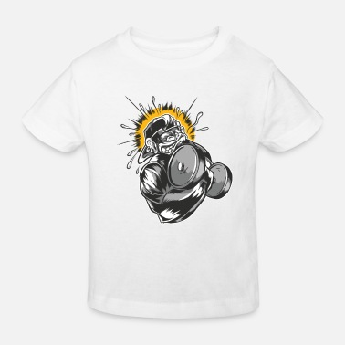 Gym de fitness Monkey Dugbell - T-shirt bio Enfant
