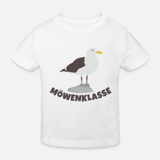 Elementary School Baby Clothes - gulls class - Kids' Organic T-Shirt white