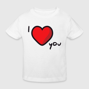 I Love You Vriendin i love you - Kinderen Bio-T-shirt