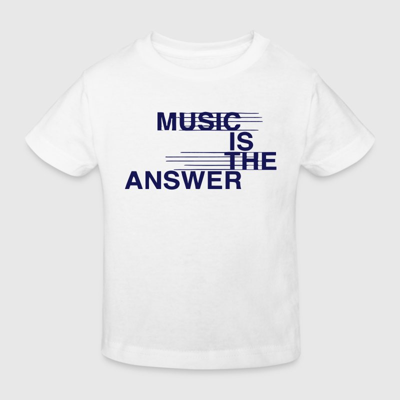 MUSIC IS THE ANSWER - Kinderen Bio-T-shirt