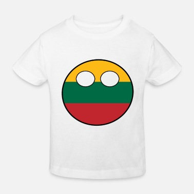 Ball Countryball Country Home Lithuania - Kids' Organic T-Shirt