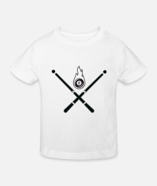 Snooker Baby Clothes - Snooker Cue Shirt - Kids' Organic T-Shirt white