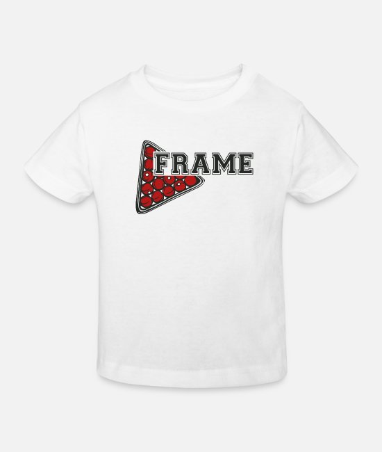 Cue T-Shirts - Snooker frame - Kids' Organic T-Shirt white
