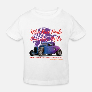 Sportwagen Nitro Race Finals van Jackseven Customs - V8 - Kinderen bio T-shirt