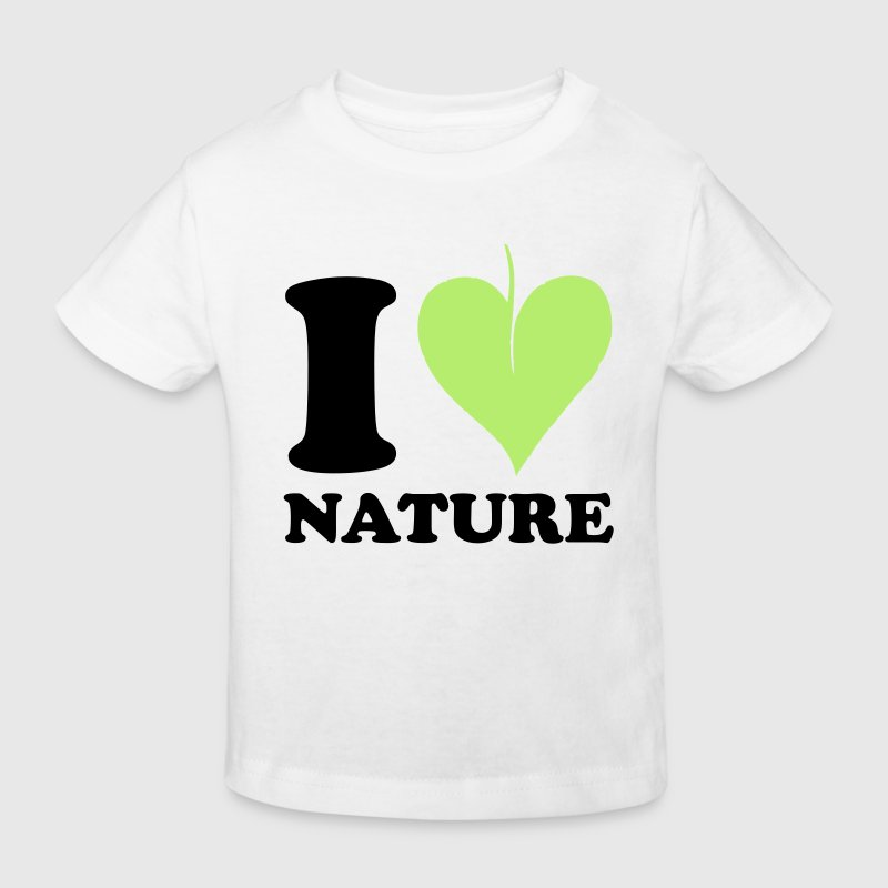 I love Nature - Kids' Organic T-shirt
