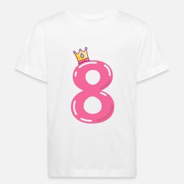 8ème Anniversaire Huitième T-shirt Filles Garçons Unisexe Cadeau D/'Anniversaire Âge 1-13