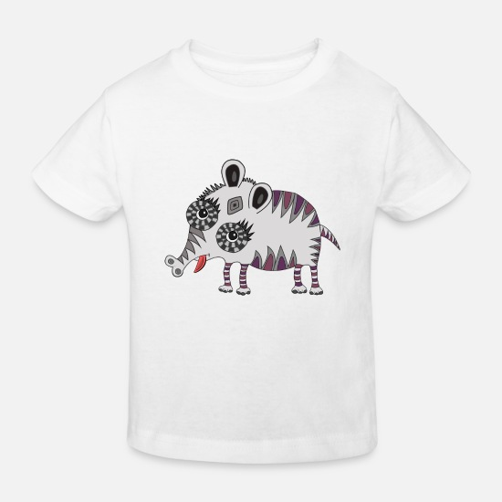 Lucky Baby Clothes - Little monster - Kids' Organic T-Shirt white