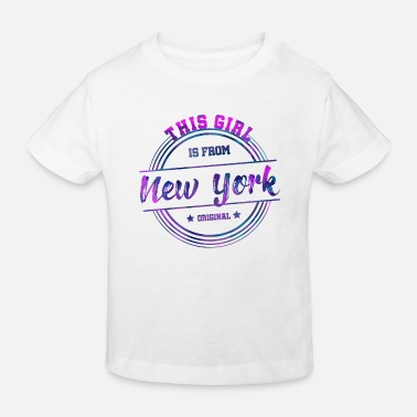 Square New York City Big Apple USAs gave fra Manhattan - Økologisk T-shirt til børn