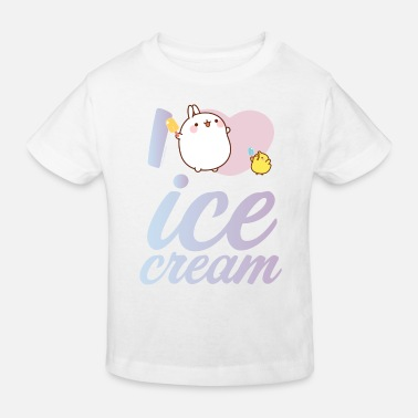 Eis Molang Piu Piu Eis I Love Ice Cream - Kinder Bio T-Shirt