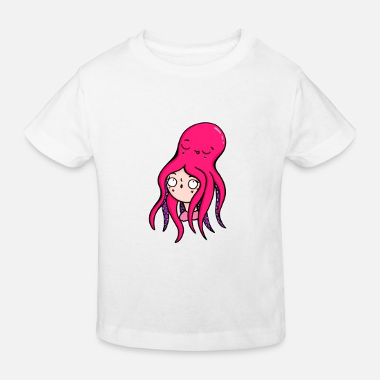 Wife Baby Clothes - Octopus octopus animal lover funny gift - Kids' Organic T-Shirt white