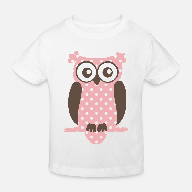 Eule T-Shirts - Eule - Kinder Bio T-Shirt Weiß