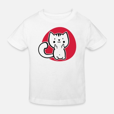 Katt Fuck off - finger katt - katt - kitty Kitty - Ekologisk T-shirt barn