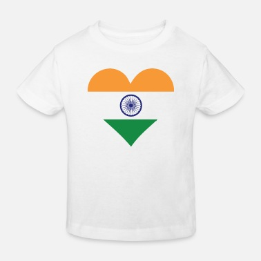 India A heart for India - Kids' Organic T-Shirt