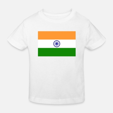 Indian National Flag of India - Kids' Organic T-Shirt