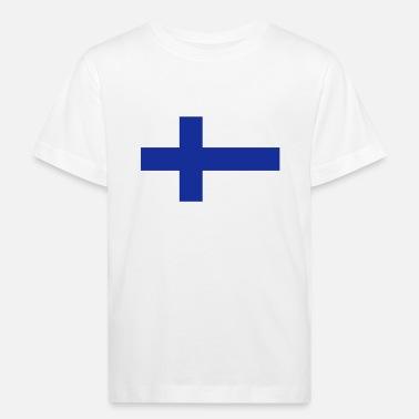 Suomen Lippu National lippu Suomen - Lasten luomu t-paita ba5f08909d