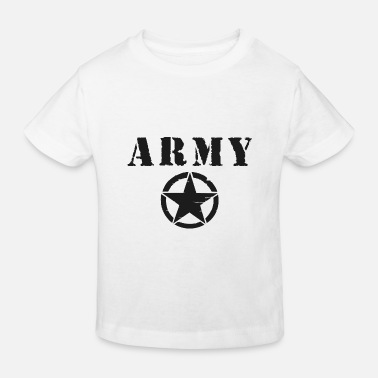 Black Army Star - Kids' Organic T-Shirt