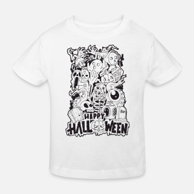 Halloween Happy Halloween | Cool Illustration Design - Kids' Organic T-Shirt