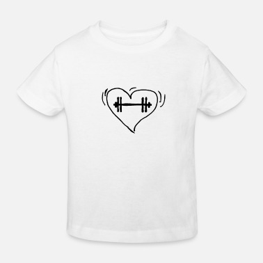 Weightlifting love - Kids' Organic T-Shirt