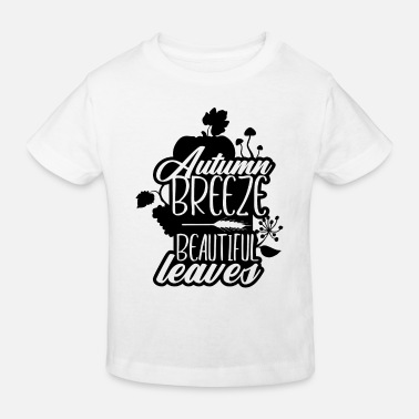 Silhouette Autumn Breeze Beautiful Leaves Nature - Kids' Organic T-Shirt