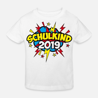 Schulkind 46 Schulkind 2019 Stern Pop-Art - Kinder Bio T-Shirt