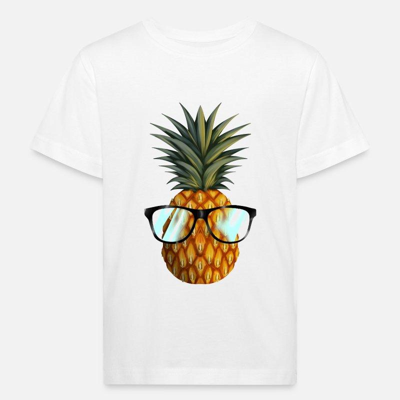 Utspekulert ananas briller Økologisk T skjorte barn