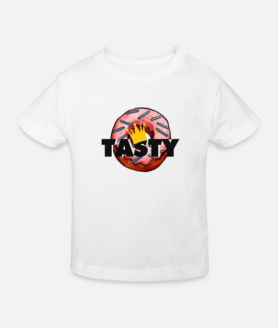 2019 Baby Clothes - Tasty donut - Kids' Organic T-Shirt white