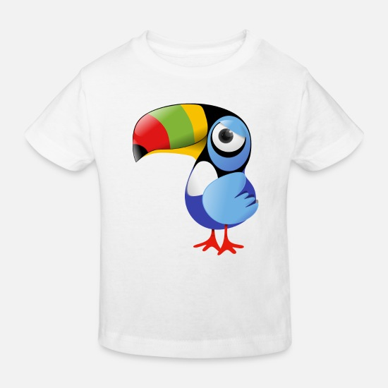 Collection For Kids  Babykleding - Toucan - Kinderen bio T-shirt wit