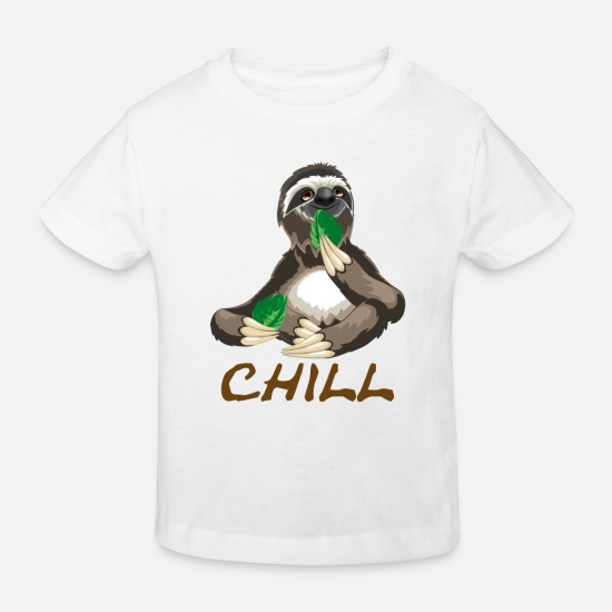 Birthday Baby Clothes - chill - Kids' Organic T-Shirt white