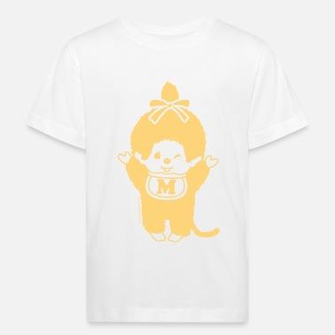 Chic-a-Boo Monchhichi pastel yellow - Kids' Organic T-Shirt