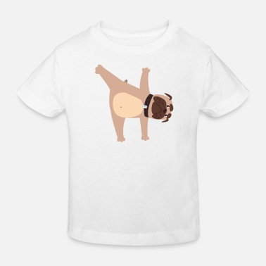 Male Puppy Dog Puppy Yoga dog pug puppy dog - Kids' Organic T-Shirt