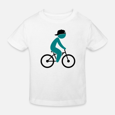 Lance Armstrong A cyclist rides on his bicycle - Kids' Organic T-Shirt