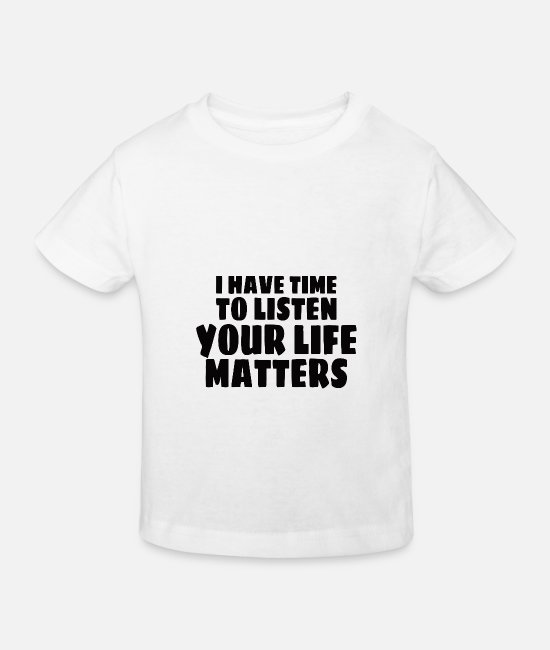 Mental Health T-Shirts - MENTAL HEALTH AWARENESS: Life Matters - Kids' Organic T-Shirt white