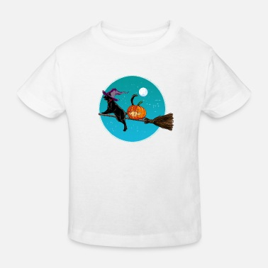 Halloween Halloween Witch Cat - Kinder Bio T-Shirt