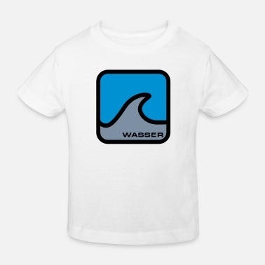 Was Wasser | Welle - T-shirt bio Enfant