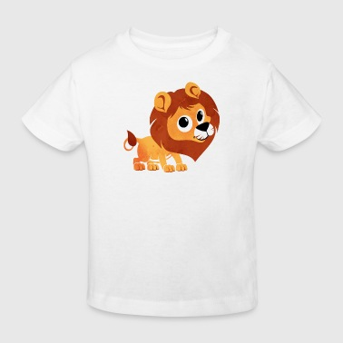 Aquarell Löwe - Kinder - Baby - Tier - Baby - Kind - Kinder Bio-T-Shirt