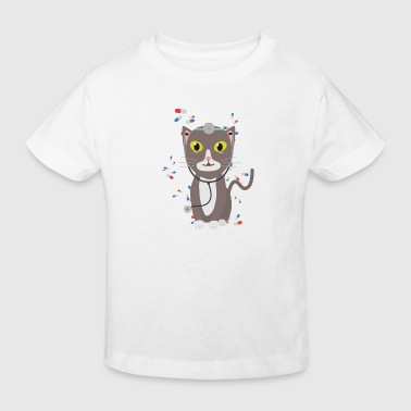 Cat with medical equipment - Kids' Organic T-Shirt