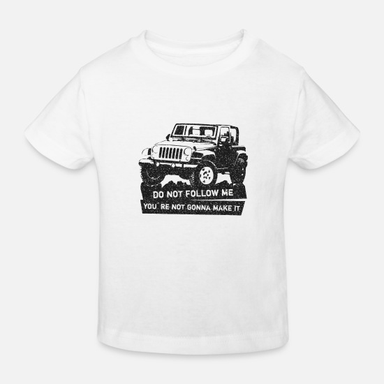 Usa Baby Clothes - Jeep Offroad Off-Road Vehicle T-Shirt - Kids' Organic T-Shirt white
