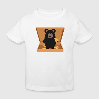 Grizzly in Pizzabox - Kids' Organic T-shirt