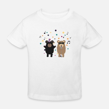 Party Bear Party bear music - Kids' Organic T-Shirt
