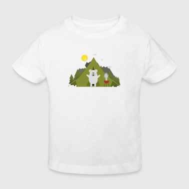 Ours polaire, camping - T-shirt bio Enfant