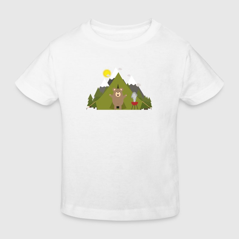 Ours brun, camping - T-shirt bio Enfant
