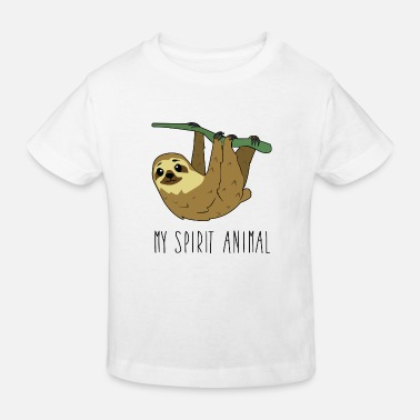 Spirit My spirit animal sloth - Kids' Organic T-Shirt