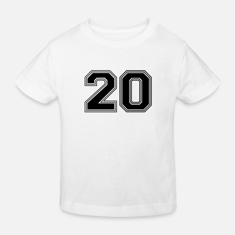 Birthday T-Shirts - 20_number_20_(s31) - Kinderen bio T-shirt wit