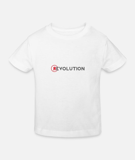 Deutschland T-Shirts - Revolution - Kinder Bio T-Shirt Weiß
