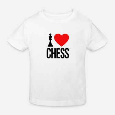 Ajedrez I LOVE CHESS - Kinder Bio T-Shirt