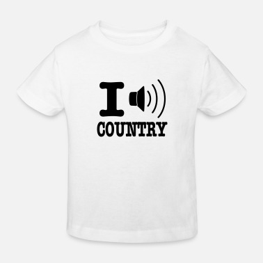 Country I music country / I love country - Maglietta ecologica per bambini