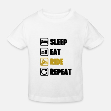T-shirt humour cadeau sleep eat ride repeat noir - T-shirt bio Enfant
