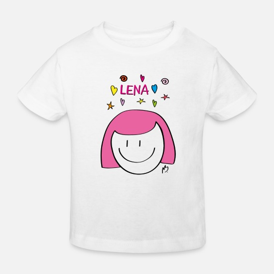 "Girlfriend Baby Clothes - ""Lena"" Smilie - Kids' Organic T-Shirt white"